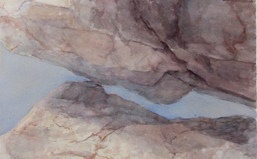 A portion of the watercolor