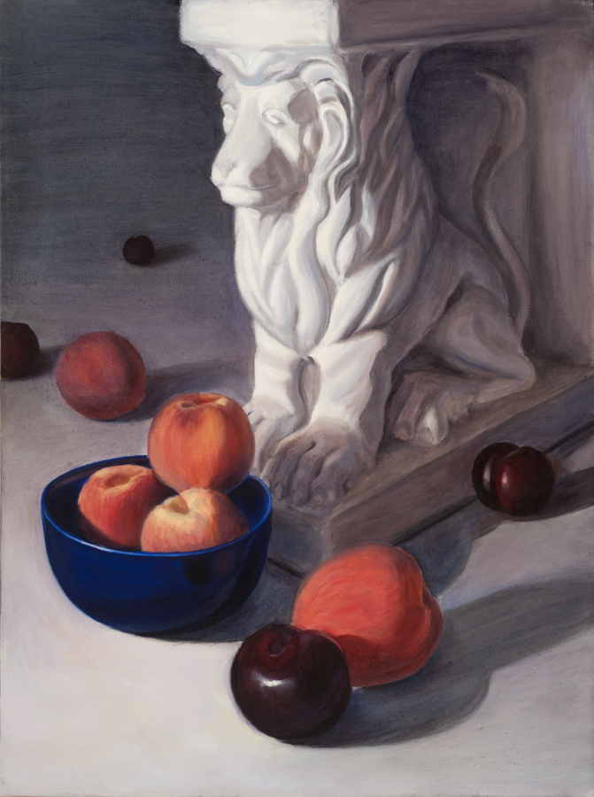 Lion and Peaches