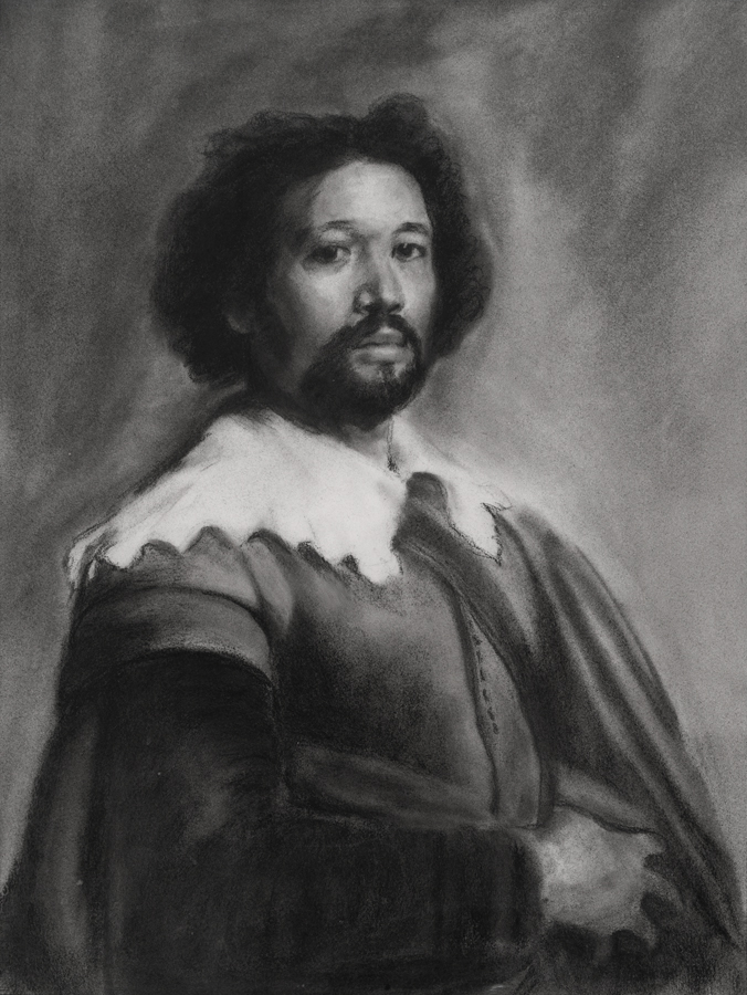 Charcoal after Velasquez painting